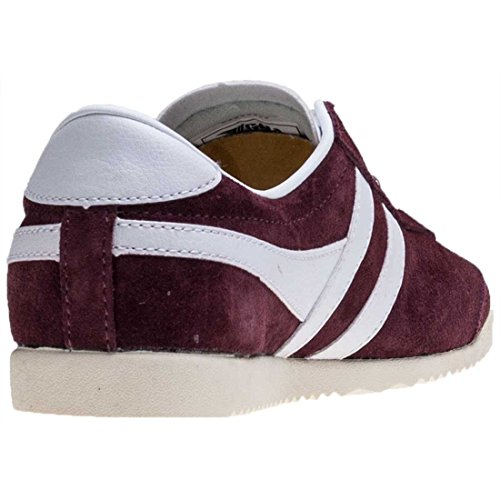Gola Womens Classics Bullet Suede Trainers Burgundy / White