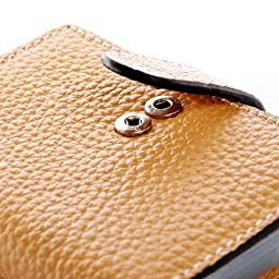 Teemzone Women\'s Leather Business Credit Id Card Case Name Card Holder Bag