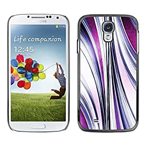 TopCaseStore Rubber Case Hard Cover Protection Skin for SAMSUNG GALAXY S4 - abstract purple flow