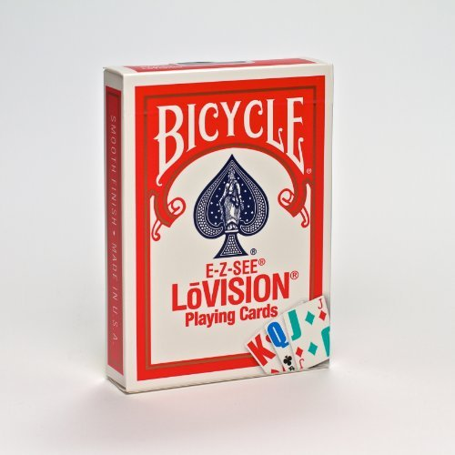 Bicycle 1001017 E-Z See LoVision Playing Cards (4 Pack)