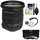 Sigma 17-50mm f/2.8 EX DC OS HSM Zoom Lens with 3 Filters Kit for Nikon D3200, D3300, D5300, D5500, D7100, D7200, D610, D750, D810, D4s DSLR Cameras