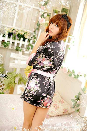 Longues japan kimono peignoir geisha cosplay string ruban rose env. 34–38 bunny-shop