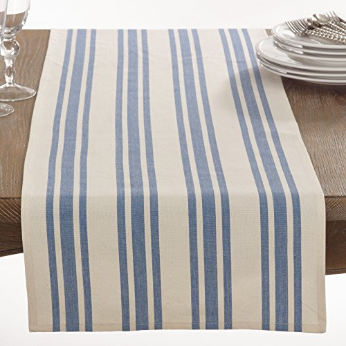 Saro Dauphine Collection Striped Design Table Runner