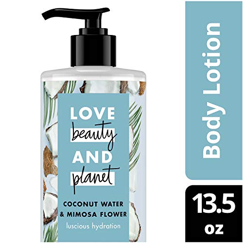 Love Beauty and Planet Coconut Water & Mimosa Flower Body Lotion, Luscious Hydration, 13.5 oz