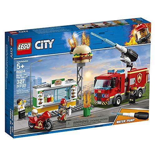 LEGO City Burger Bar Fire Rescue 60214 Building Kit (327 Pieces)