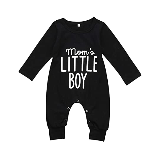 87d502626 Aliven Newborn Infant Baby Boy Long Sleeve Bodysuit Romper Jumpsuit Outfits  Clothes Clothing,Mama's Little