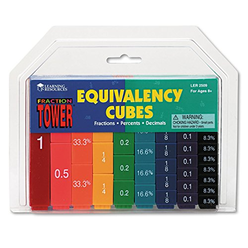 - Fraction Tower Activity Set, Math Manipulatives, for Grades 1-6 ()