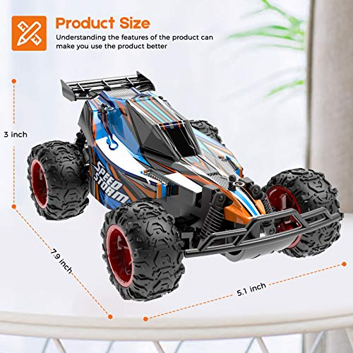 Blue 2.4 GHZ High Speed Racing Car With 4 Batteries JEYPOD Remote Control Car
