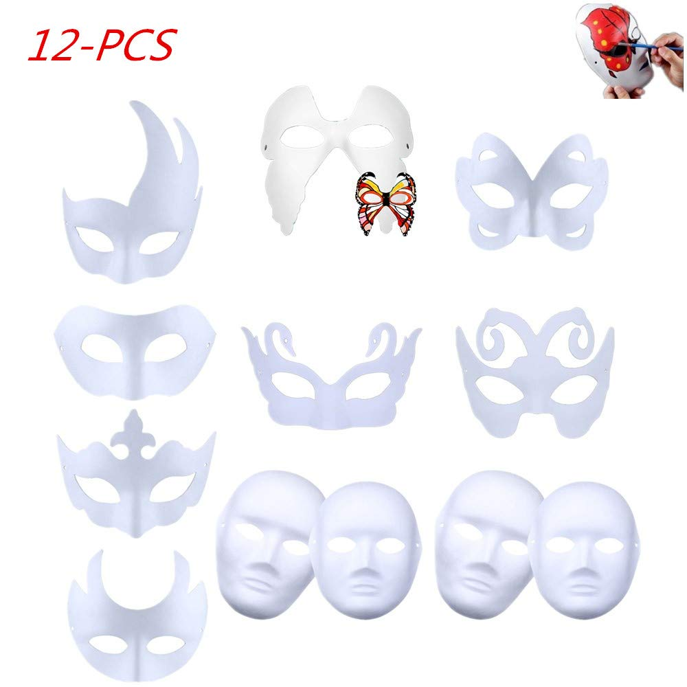 lot de 12 masques