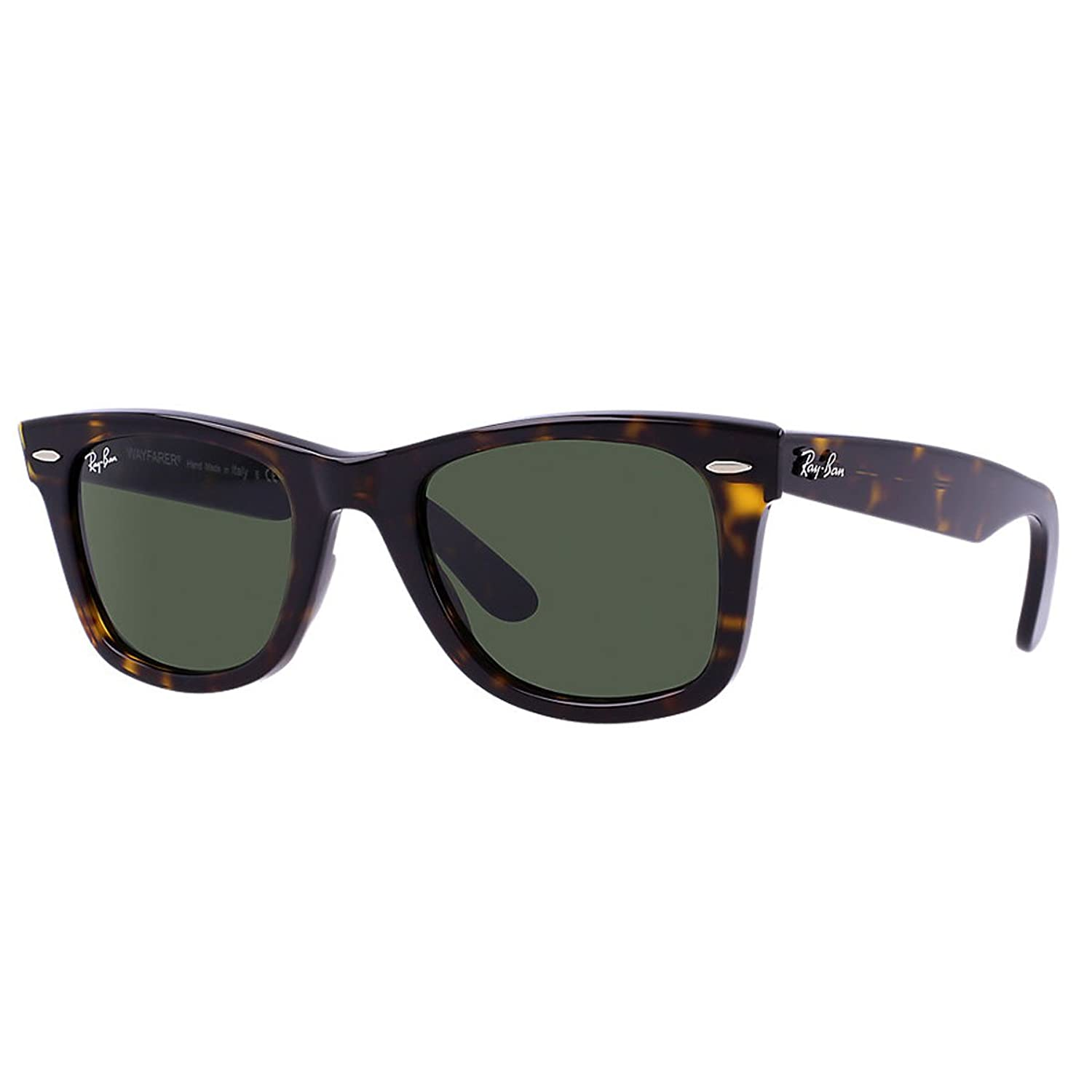 ray ban original wayfarer  Amazon.com: Ray-Ban WAYFARER - TORTOISE Frame CRYSTAL GREEN Lenses ...