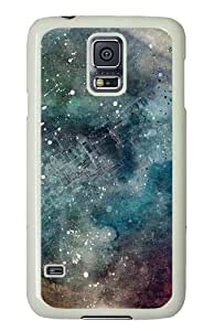 Samsung Galaxy S5 Case Cover - Abstract Space Custom Design PC White Case Cover for Samsung Galaxy S5