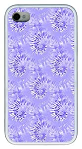 IMARTCASE iPhone 4S Case, Blue Tie Dye Seamless Case for Apple iPhone 4S/5 TPU - White