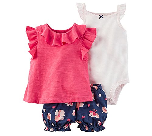 3 Piece Diaper Set (Carter's Baby Girls' 3 Piece Bodysuit & Diaper Cover Set 24 Months)