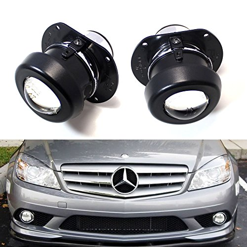 Lamps Projector Fog - iJDMTOY (2) Direct OEM Replacement Projector Fog Lamps For Mercedes C R CL SL SLK Class (HID Lights Compatible)