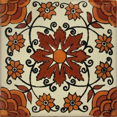 6x6 4 pcs Moris Talavera Mexican Tile