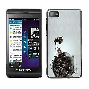 Paccase / SLIM PC / Aliminium Casa Carcasa Funda Case Cover - Wheelchair Deep Dark Meaning - Blackberry Z10
