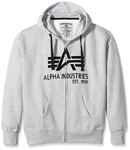 Grau Big Alpha grey Classic Homme shirt Heather 17 Sweat Zip A 0w7FqdwZ