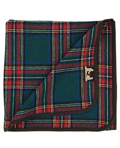 Ruth&Boaz Tartan Plaid Wool Blend Throw Blanket(R) (Green, Large)