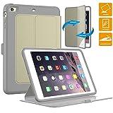 iPad Mini 2 Case, SEYMAC Smart Magnetic Auto Sleep Wake Full Body Protective Stand Slim [Lightweight] Durable Synthetic Leather [Hard Cover+Soft TPU] Case for iPad Mini 1st, 2nd, 3rd Generation[Khaki]