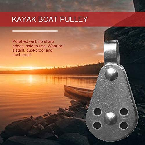 Silver Durable Stainless Steel Outdoor Water Sports Marine Sheave Single Block Pulley For Kayak Anchor Trolley Sailing Rowing Boat