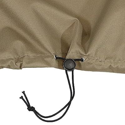 Sunnydaze Protective Outdoor Patio Sofa Lounge Cover, Weather Resistant, Khaki : Garden & Outdoor
