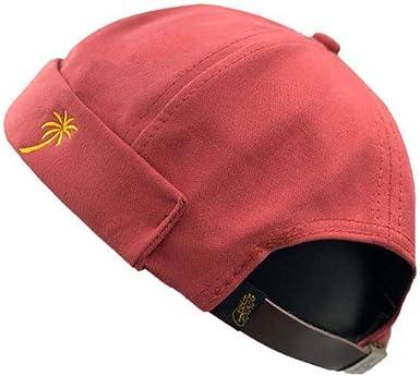 Clape - Gorro de estibador de pana sin visera, tipo docker, con borde vuelto, Rojo ladrillo, 21-23.6 inches / 54-60cm (Adjustable): Amazon.es: Ropa y accesorios
