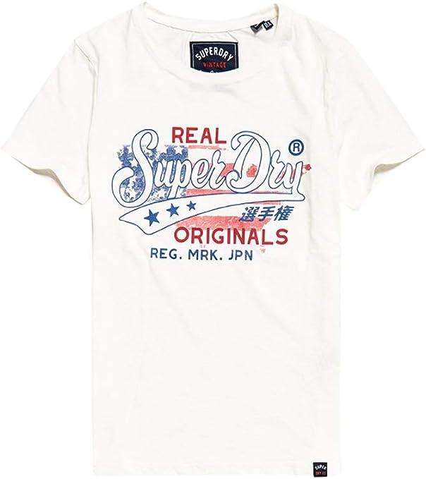 Superdry Real Originals Flag Entry tee Camiseta de Tirantes para Mujer: Amazon.es: Ropa y accesorios