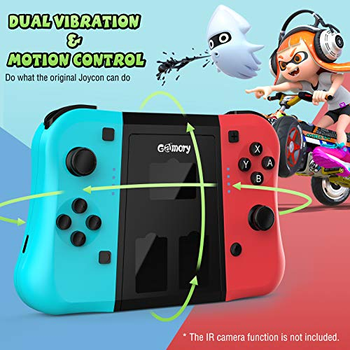 Gamory Joy Con Controllers for Nintendo Switch, Wireless Controllers for Nintendo Switch Joy Cons Replacement Joystick for Joy con with Ergonomic L/R Comfort Grip Controller Joypad