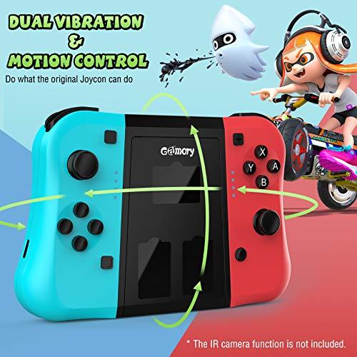 Gamory Wireless Controller per Nintendo Switch Joystick Bluetooth di Ricambio per JoyCon Dual Motori Axis Gyro Compatibile con Nintendo Switch PRO Ergonomico Controller