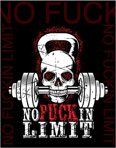 No Limit. - Motivational Art Print- 11x14 Unframed Photo Poster - Fun Gift for Those Who Love to Exercise. Perfect for the Dorm, Game Room, Gym, Office, Man Cave, She Shack. Poster Decor Under $20 ()