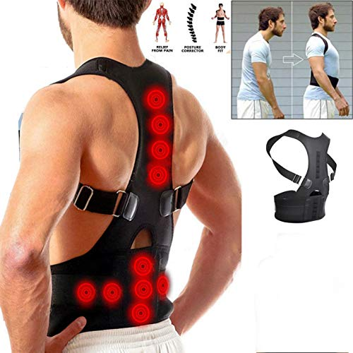Posture Corrector Support Magnetic Back Shoulder Brace Belt for Men Women SFC