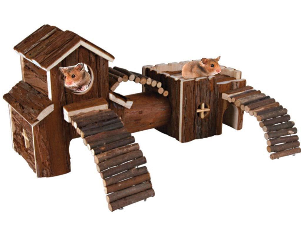 LIVIVO® - Parque de madera natural para ratas, hámsters, ratones o jerbos
