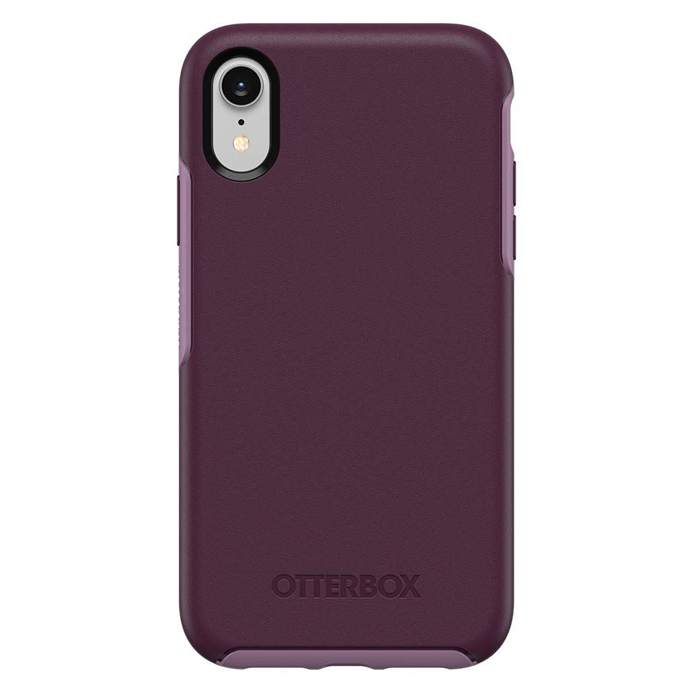 OtterBox Symmetry Series Case for iPhone XR - Retail Packaging - Tonic Violet (Winter Bloom/Lavender Mist)
