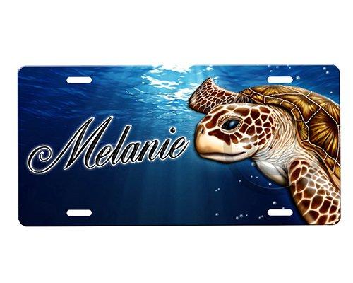 onestopairbrushshop Sea Turtle License Plate