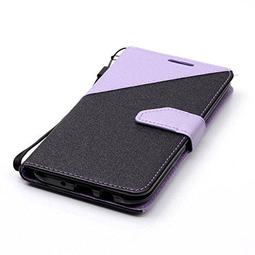 para Galaxy J7(2015) Funda Samsung J7(2015) Carcasa Wallet Case Suave PU Leather Cuero Cubierta Impresión Libro - Sunroyal® Ultra Slim Case Flip Cover Empalme Contraportada Cierre Magnético Función So A-05