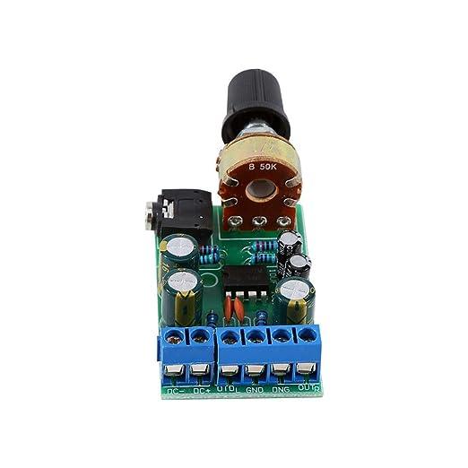 Akozon Amplificador estéreo 2.0 para Radio portatil, 2 canales 3.5mm AUX DC 1.8 V-12 V TD2822M: Amazon.es: Industria, empresas y ciencia