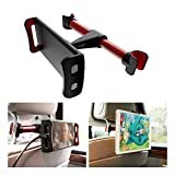 Image of PZOZ Tablet Car Seat Headrest Mount, Universal 360 Degree Rotating Adjustable Mount Holder for iPad, Samsung Galaxy, Fits all 4 to 10.5 inch Smartphones and Tablets (Red-Black)