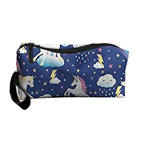 Travel Makeup Unicorn Rainbows Cosmetic Case Organizer Portable Artist Storage Bag Toiletry Jewelry Pen Holder Stationery Pencil Pouch