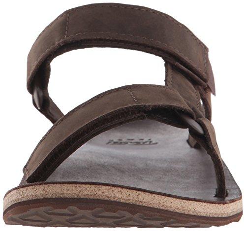 Teva M Universal Slide Leather, Zapatillas de Atletismo para Hombre Marrón (Brown Brn)