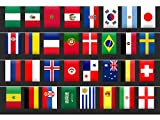 Funpa 2018 World Cup Flag Banner Bar Hanging Banner National Flag Bar Party Banner Bunting for Soccer Events
