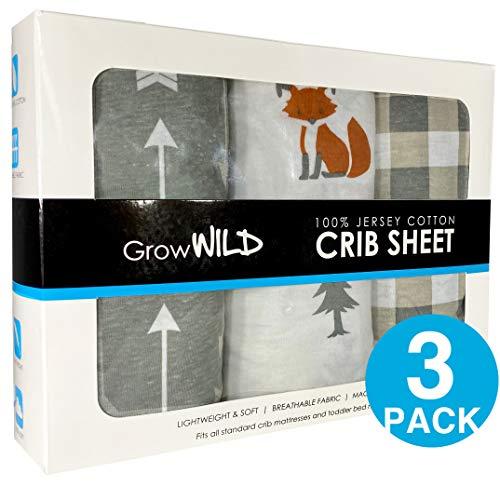 Grow Wild Crib Sheet 3 Pack | 100% Cotton