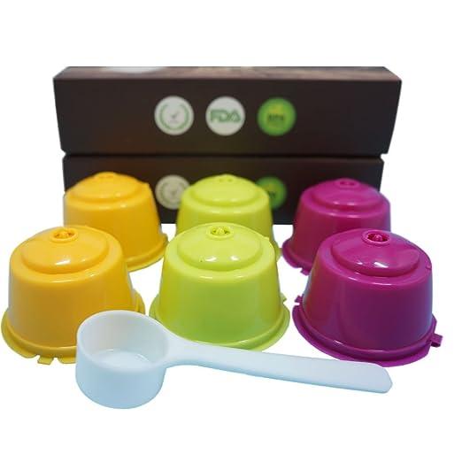 YISER 6 Pack Cápsulas Filtros de Café Recargable Colores ...