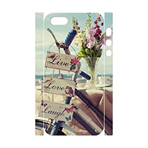 Live Laugh Love Customized 3D Cover Case for Iphone 5,5S,custom phone case ygtg577547