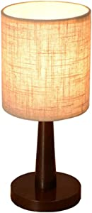 Surpars House Mini Fabric Table Lamp Wood Stand Desk Lamp for Bedside Table,Baby Room or Office