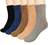 Loritta 5 Pairs Women Warm Fuzzy Fluffy Socks Super Soft Cozy Home Slipper Socks