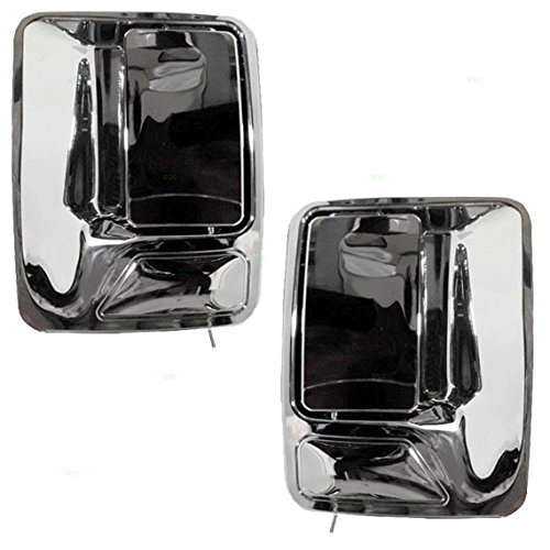 Driver and Passenger Rear Outside Outer Door Handles Chrome Specialty Replacement for Ford Pickup Truck 7C3Z 2626601 AA 7C3Z 2626600 AA - Excursion Chrome Door Handle