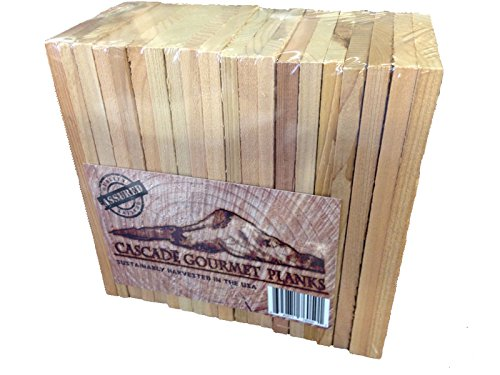 20 Cascade Gourmet Cedar Planks - Individual Serving (3.5 x 6.5 x 3/8)