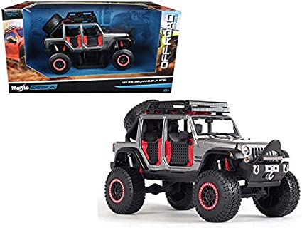 2015 JEEP WRANGLER UNLIMITED GREY OFF ROAD KINGS 1//24 DIECAST BY MAISTO 32523