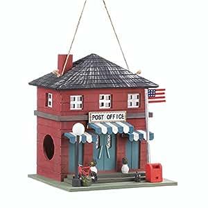 Songbird Valley Colibrí casas, rojo al aire libre Chickadee casa para pájaros–madera, oficina de correos