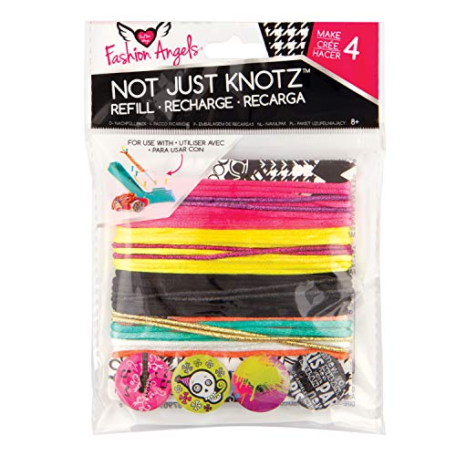(Fashion Angels Not Just Knotz Refill Pack - Pink, Green, Black)